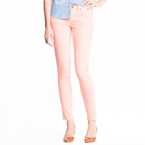 J. Crew Light Pink Toothpick Ankle Jeans